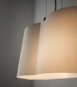 Due to the haptic texture of the BENT Cloud pendant lamp fabric shade appears to be distinguished and of high quality.